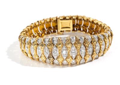 Bracelet Boucheron époque 1960 avec diamants