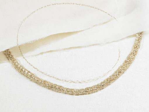 Collier époque Belle Époque en perles fines