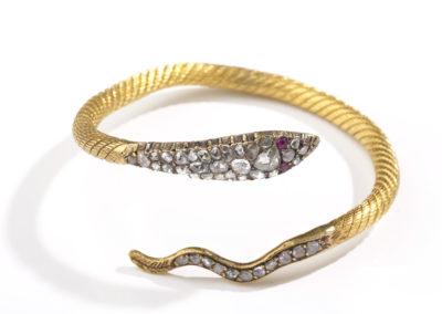 Bracelet époque milieu XIXe siècle en or et diamants