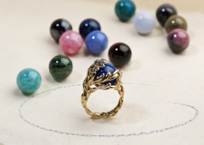 Bague Gilbert Albert, boules interchangeables